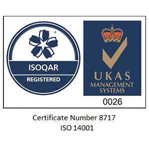 ISO14001 accredited security company logo
