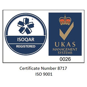 ISO9001 accredited security company logo