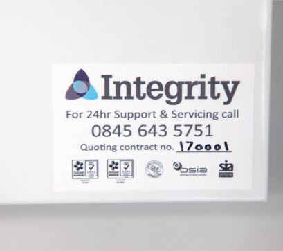 reactive repairs label from Integrity
